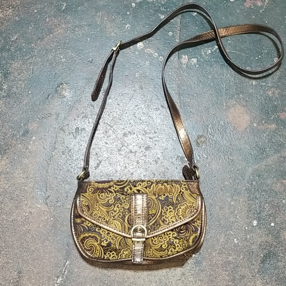 Nine West Handbags - Nine West Brocade Leather Crossbody Bag.